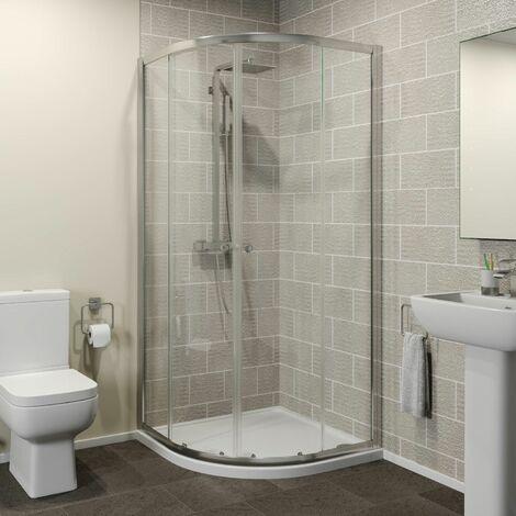 800 x 800mm Quadrant Shower Enclosure Walk In Sliding Door 4mm Glass Cubicle