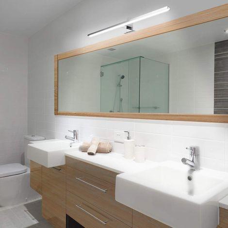 800Lm Lampe Miroir Avant Lumière 60cm Eclairage Salle De Bain Applique Murale Hasaki