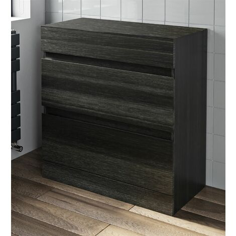 800mm Bathroom Countertop Vanity Unit Floor Standing Drawer Charcoal Grey