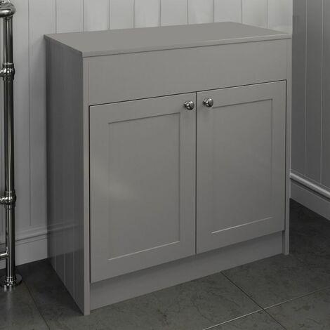 800mm Grey Traditional Bathroom Countertop Vanity Unit Floor Standing Doors