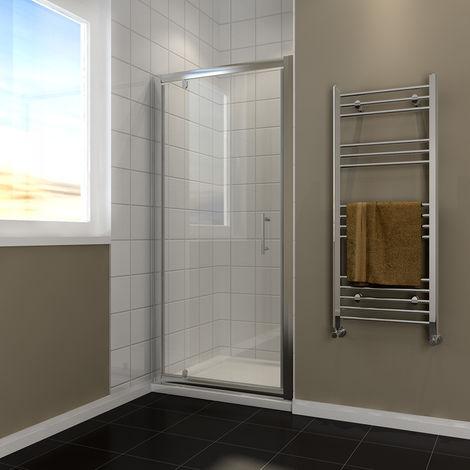 800mm Pivot Hinge Shower Door Reversible Shower Enclosure Cubicle