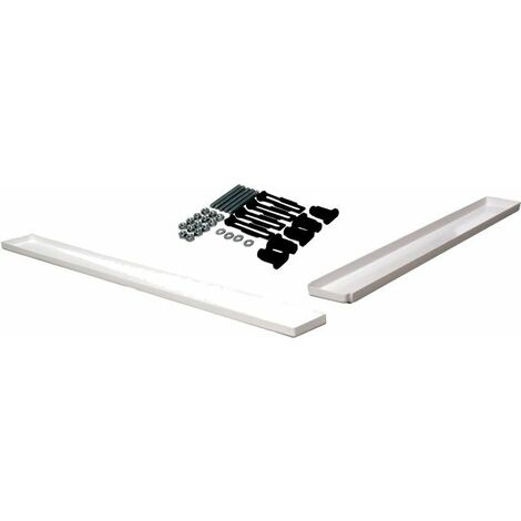 800mm x 800mm Hydrolux Square Easy Plumb Riser Kit ABS Acrylic