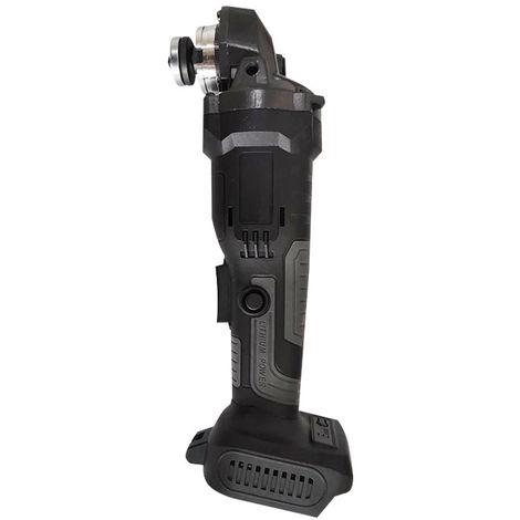 800W 11000rpm Amoladora angular sin escobillas Batería de litio Máquina pulidora Negro + Gris