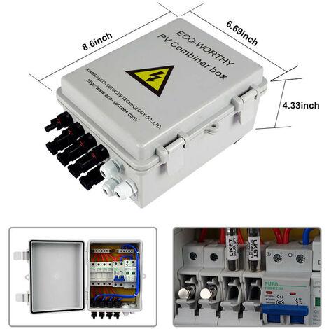 800W 24V Solar Panel Off Grid System Kit 4 String PV Combiner Box 60A Regulator