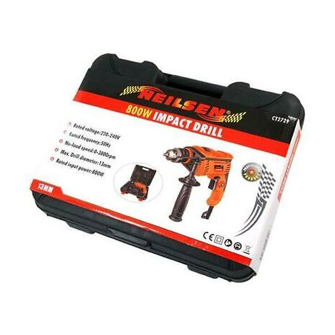 800W Impact Corded Electric Drill. Hammer Action. Case