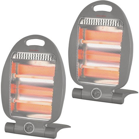 800w Quartz Heater Twin Pack