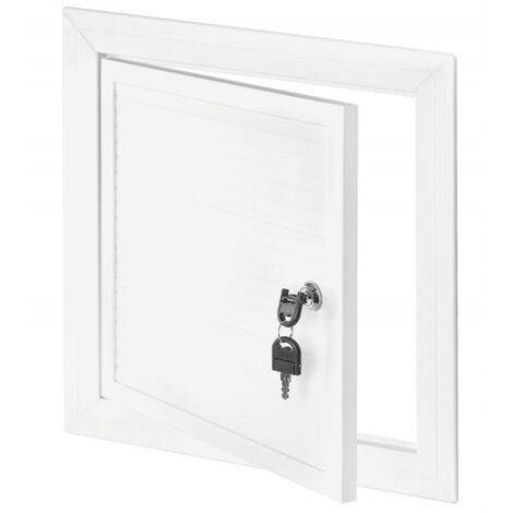 800x1200mm Blanc PVC Couvercle Chambre D'inspection Panneau Accès Serrure Clé