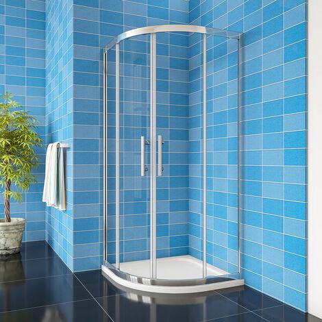 "main image of ""Equal / Offset Quadrant Shower Enclosure Corner Cubicle 8mm NANO Glass Door"""