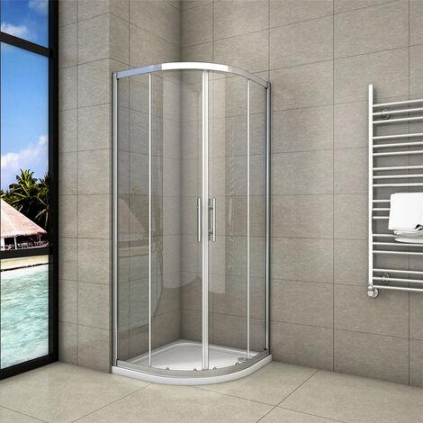 "main image of ""Offset Quadrant Shower Enclosure Sliding Door Corner Entry Cubicle TemperedGlass"""