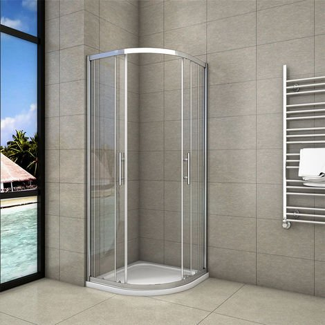 """main image of """"Quadrant Shower Enclosure and Tray Walk In Corner Cubicle Glass Screen Door 1900"""""""