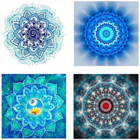 8057 8060 8062 8120 Manda fleur diamant peinture 4 pieces ensemble combinaison 25X25 CM Rubik's Cube diamant rond diamant complet