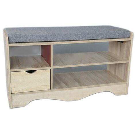80CM Wooden Shoe Cabinet Rack Storage Bench Organiser Shelf Rack 80*43*30cm