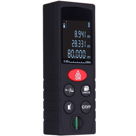 80m/262ft,Medidor de distancia laser digital de mano, medicion de volumen de area