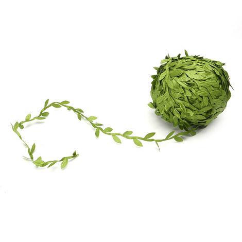 80M Verde hiedra artificial vid hoja guirnalda ratán follaje boda jardín LAVENTE