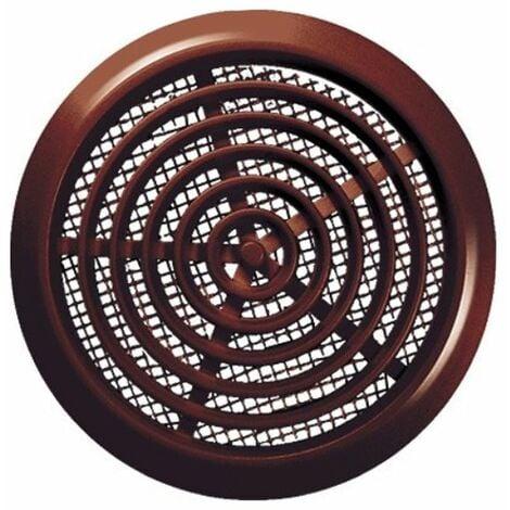 80mm Diameter Hole Brown Round Door Air Vent Grille Woodwork Furniture