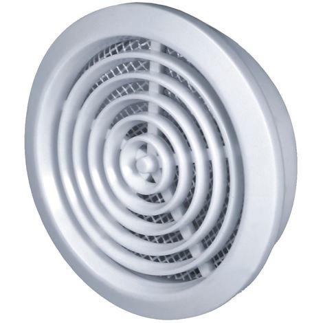 80mm Diameter Hole White Round Door Air Vent Grille Woodwork Furniture
