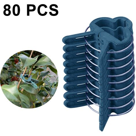 80PCS Garden clip seedling grafting flowers and garden decoration garden clip size optional Gardening Spring Clips for Plants, Stems Support, small
