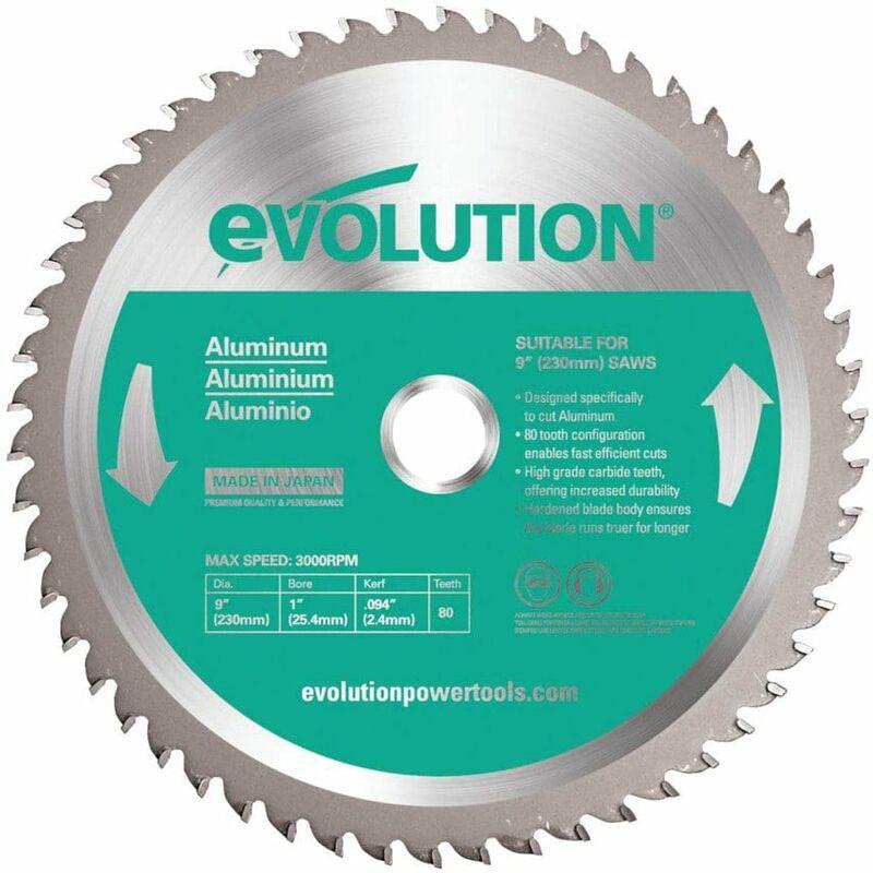 Image of Evolution Power Tools EVOBLADE230AL TCT Saw Blade for Aluminium 230MM - 54 Teeth
