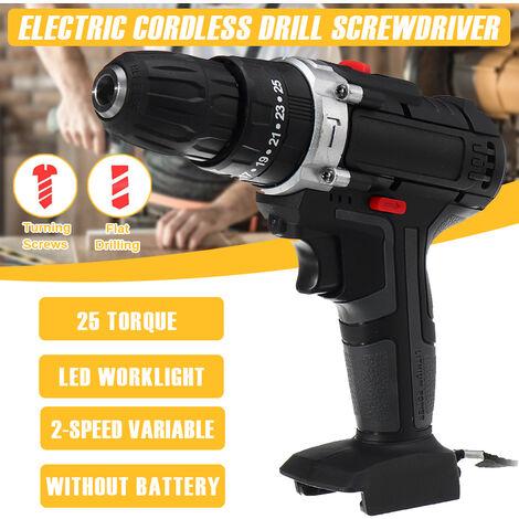 80W 220V 120nm Taladro / destornillador eléctrico inalámbrico Destornillador LED de 2 velocidades [sin batería]