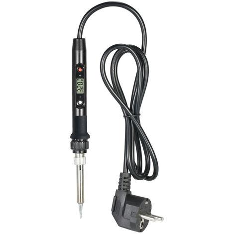 80W Lcd Professionnel Numerique De Temperature Reglable De Fer A Souder Electrique Outil Sans Plomb Mini Station De Soudure, Noir