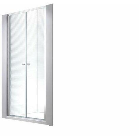 80x195cm Porte de niche cabine de douche - sans bac de douche