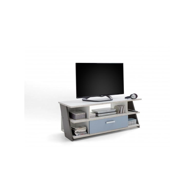 Fmd Mobel - 814-005 Nona 5 Sandeiche Nb. / bunt Lowboard TV Kommode Multimedia Fernsehkommode ca. 135 cm-'SW10615'