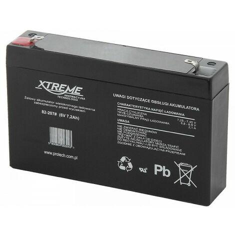 82-207 batterie au plomb 6V 7.2Ah Xtreme
