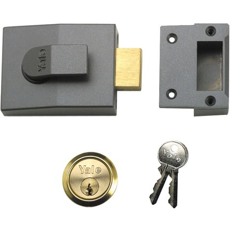82 Deadbolt Nightlatch 60mm Backset DMG Finish Box