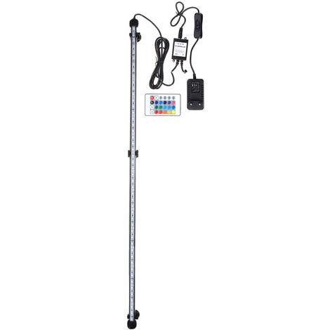 82cm RGB 48LED 12.2W lámpara sumergible acuario impermeable IP68 110-240V UE Sasicare