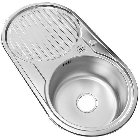 82CM Stainless steel sink Right Round sink Kitchen sink Built-in Sink basin Sink unit
