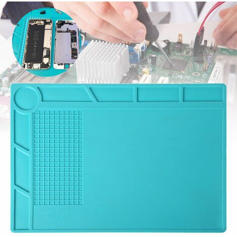 8.2x11.5inch Heat Resistant Magnetic Welding Mat Silicone Heat Gun Station Insulation Repair Tools WASHED