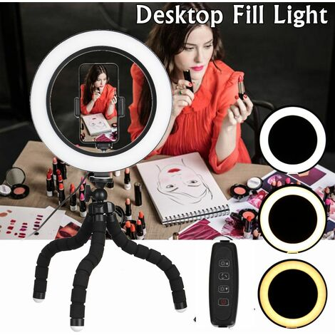 """main image of """"8.3inch Camera Photo Studio Phone Video LED Beauty Ring Light Photography 10 Levels Dimmable Ring Lamp + Tripod for Selfie / Live Show / Fill-in Ligh"""""""