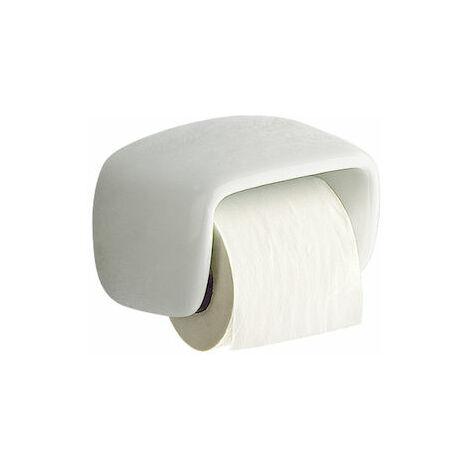 8414329347470 Roca - Portarrollo con tapa - Serie Onda Plus , Color Blanco