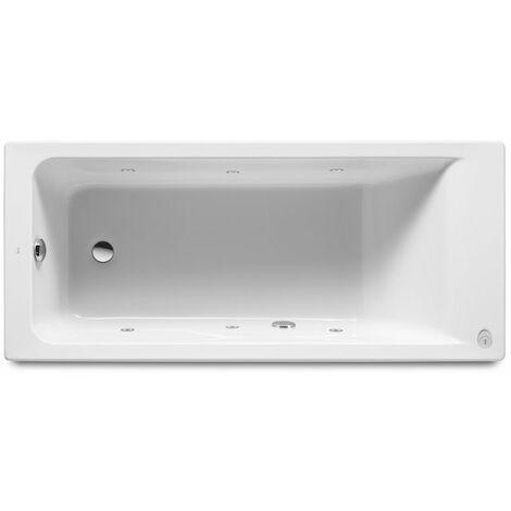 8414329805642 Roca - Bañera acrílica rectangular con hidromasaje Tonic - Serie Easy , Color Blanco