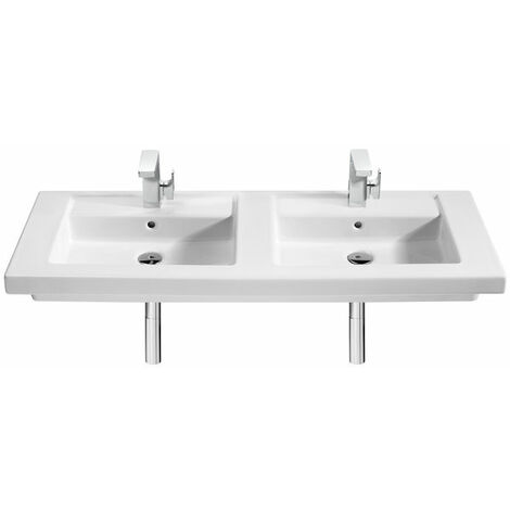 8433290314335 Roca - Lavabo de porcelana suspendido o de sobremueble 1200 - Serie Prisma , Color Blanco