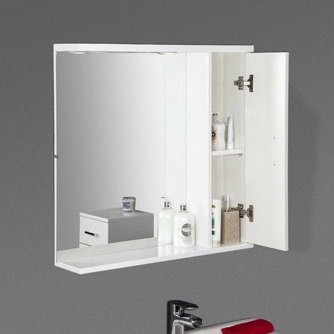 "main image of ""Bathroom Wall Hung Mirror Cabinet Storage Furniture Unit"""