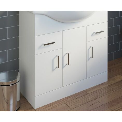 850mm Floorstanding Bathroom Vanity Unit ONLY - BASIN & TAP NOT INCLUDED