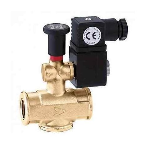 """854046 Elettrovalvola gas, normalmente aperta, con riarmo manuale 1"""" CALEFFI"""