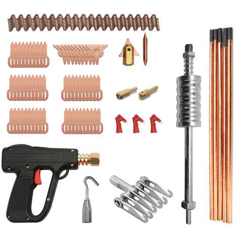 86Pcs Dent Puller Kit Carrosserie Outils Reparation De Soudage Par Electrodes Spotter Soudeur Machine Retrait Straightenging Dispositif Remover Dents