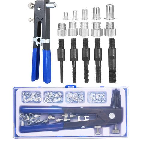 86Pcs Rivet Nut Tool Kit Set Rivet Aveugle Nut Riveteuse A Main Cle Filete Outil D'Insertion Rivet Ecrou Avec Pistolet Metrique Rivet Nuts Assortiment M3 M4 M5 M6 M8