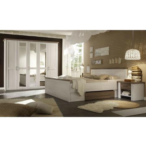 87-062-B5 LUCA Komplettes Schlafzimmer inkl. Kleiderschrank, Doppelbett & Nako