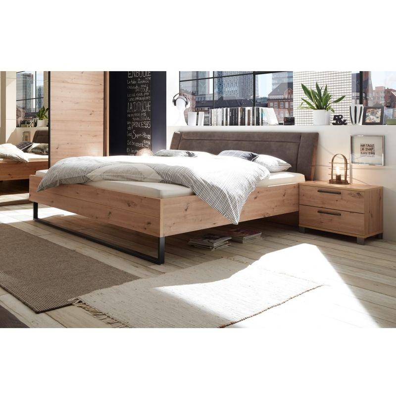87-560-R8 ORLANDO Artisan Eiche Nb. Bett Doppelbett Ehebett Bettanlage Schlafzimmer 180 x 200 cm-'SW14002' - POL-POWER