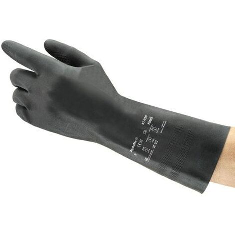 87-950 Extra Black Natural Rubber Latex Gloves