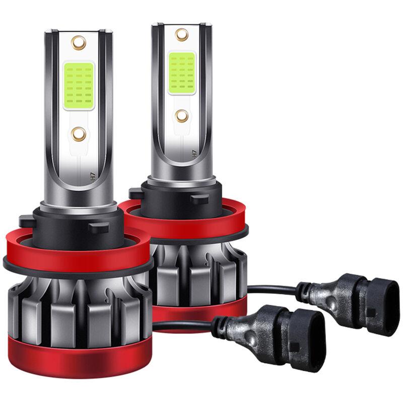 Happyshopping - Ampoules de phares LED H8/H11, 30W 3000 Lumens Kit de conversion de phares LED super lumineux IP68 etanche, paquet de 2, modele?: 34