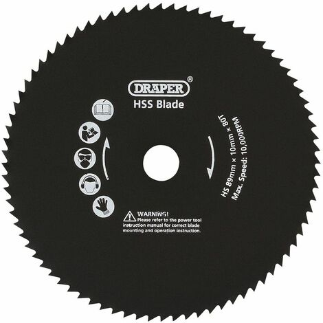 89mm Metal Cut Blade for Storm Force® Mini Plunge Saw (25914)