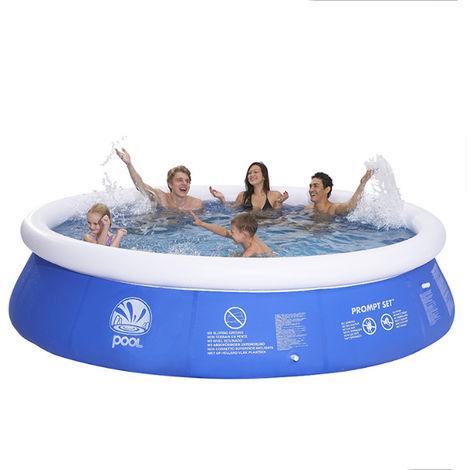 8Ft Ground Quick Pool Paddling Pool Inflatable Garden Family Garden Hasaki