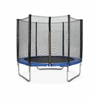 8ft Trampoline with Safety Net - 3 Colours - PRO Quality EU Standards
