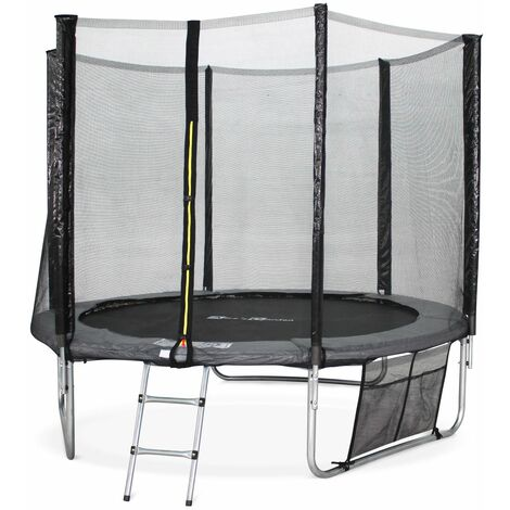 8ft Trampoline with Safety Net & Accessories Kit - Blue - PRO Quality EU Standards