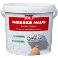 8kg Lugato Weisses Haus Kunstharz-Rollputz