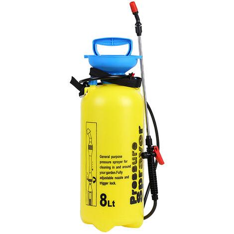 8L Main Powered Pulverisateur Arrosage Spraying Arrosoir Atomiseur Avec Soupape De Decharge Longue Baguette Tube Reglable Epaule Nettoyage Domestique Jardinage Agricole Arrosage